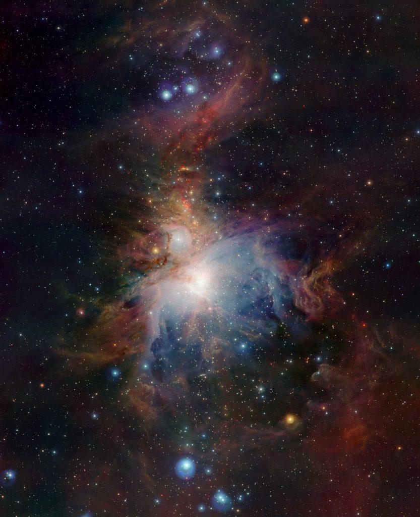la nebulosa de orion observada en infrarrojo