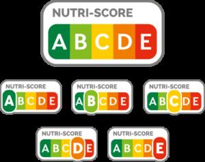 Nube de etiquetas de Nutri-Score